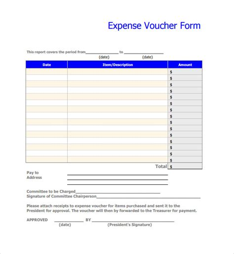 8 Expense Voucher Templates To Download For Free Sle Templates Printable Travel Voucher Template