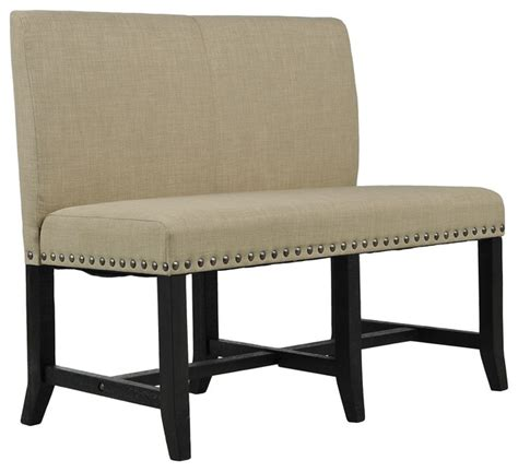 dining benches with backs jaxon upholstered high back bench rustic dining