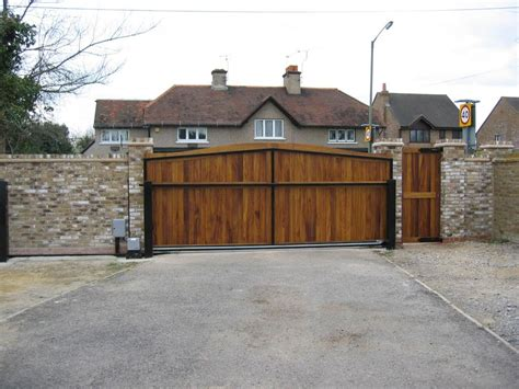traditional hardwood gate design ideas feat
