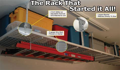 Organizing A Home by Garage Storage Overhead Racks Garage Shelving