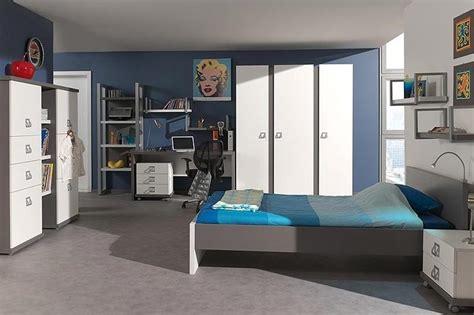 chambre bleu garcon deco chambre ado garcon bleu gris visuel 3