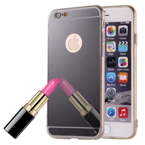 Armor Electroplate Glossy Iphone 66s Plus Black sunsky electroplating mirror tpu protective for