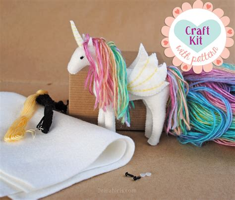 unicorn craft pattern unicorn sewing kit make your own stuffed unicorn diy