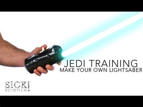 How To Make A Paper Lightsaber - make your own lightsaber sick science 137