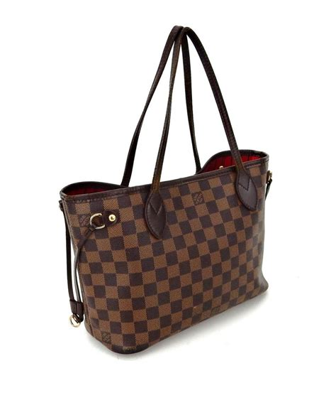 louis vuitton neverfull pm weekender brown damier ebene