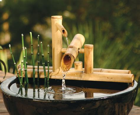 bamboo accents zen garden water fountain spout 7 5 inch