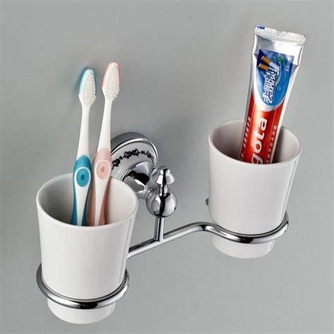 bathroom toothbrush storage vintage wall mounted toothbrush tumbler holder double holders in chrome modern