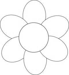 Flower petal cut out flower six petals black