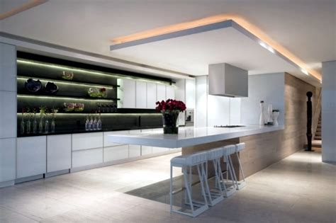 Kitchen Wall Shelves Ideas 33 ideas for ceiling lighting and indirect effects of led