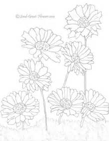 gerbera daisy coloring pages coloring pages free