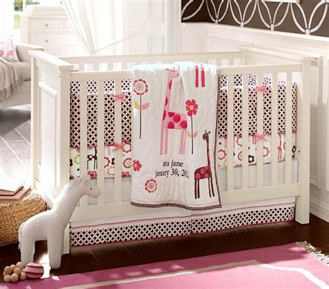 Giraffe Baby Bedding Crib Sets Mod Giraffe Nursery Bedding Set Pottery Barn