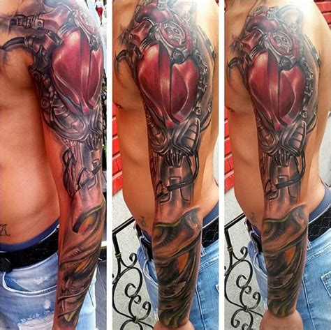 biomechanical sleeve best tattoo design ideas