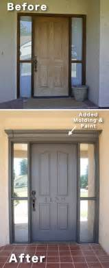 Front Door Molding Ideas 3 Add Molding And Paint To Your Front Door 17 Impressive Curb Appeal Ideas Cheap And Easy
