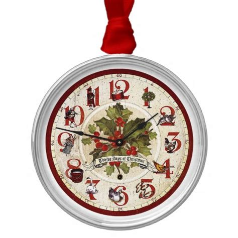 vintage 12 days of christmas ornament zazzle