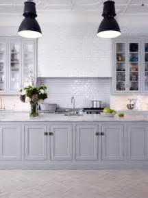 Light Gray Kitchen Cabinets by Redirecting