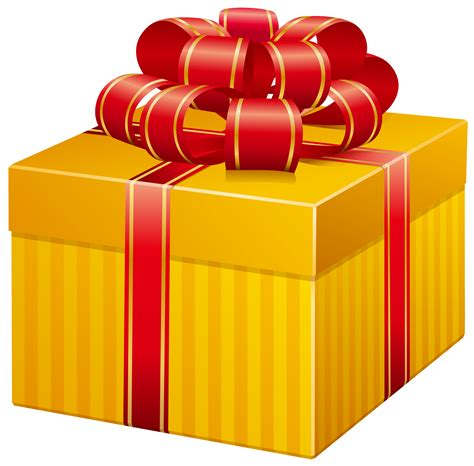 yellow soft christmas gift yellow present box png clip best web clipart