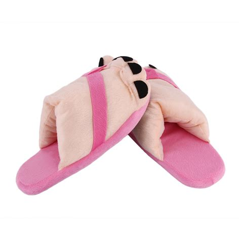 big and slippers fashion winter indoor toe big warm soft plush