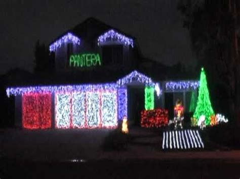 pantera christmas lights lightorama 2010 youtube