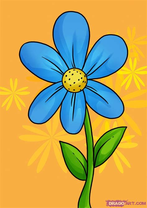 flower easy learn how to draw a simple flower flowers pop culture