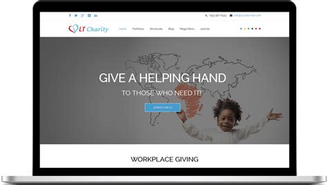 Lt Charity Free One Page Responsive Non Profit Charity Joomla Template Responsive Joomla Joomla One Page Template Free