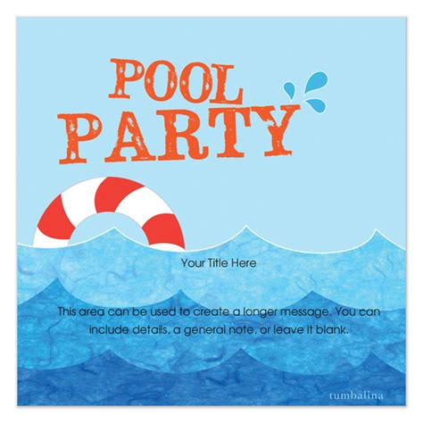 swimming pool invitations templates pool buoy invitations cards on pingg