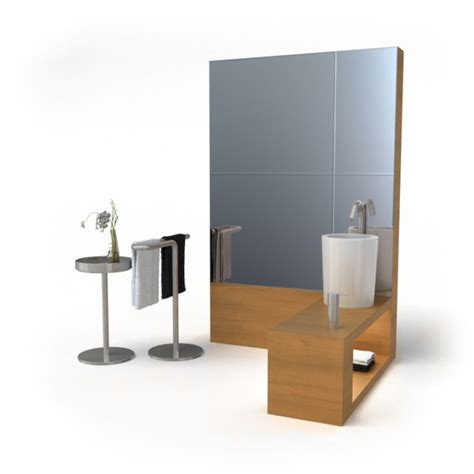 modern style bathroom furniture set 3d model cgtrader