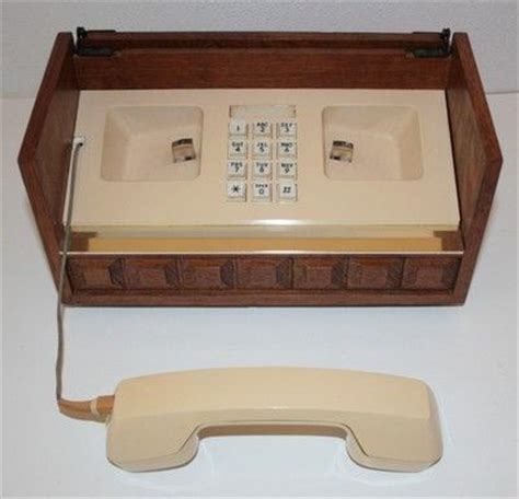 Retro Wooden Box With Drawer Phone Vintage Western Electric Phone Wood Wooden Box