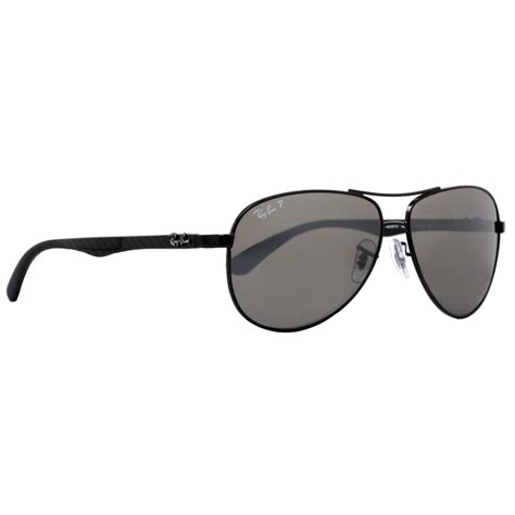 ban rb 8313 002 k7 black carbon fiber polarized unisex