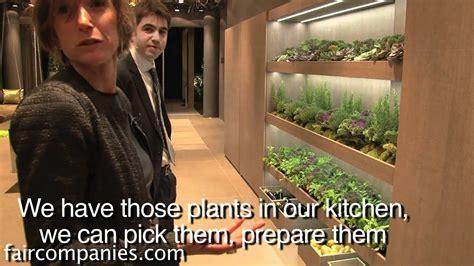 mediterranean kitchen indoor garden  drip system