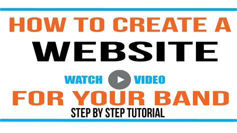 wordpress tutorial to create a website wordpress tutorial how to make a website for your band