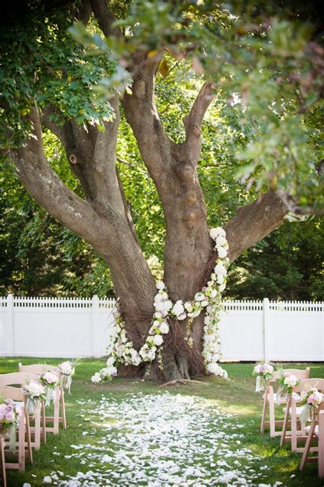 wedding wednesday flower garlands  trees flirty