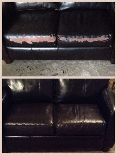 diy sofa repair quick flaky leather couch fix get a chip of the peeling
