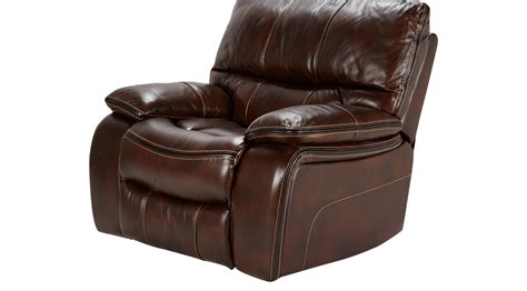 cindy crawford recliner gianna brown leather power recliner contemporary