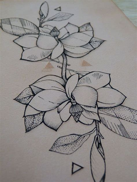 tattooed leather art geometric flower 18 punctured