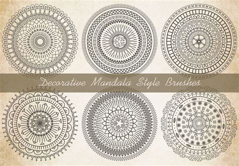 Mandala Templates For Photoshop | decorative mandala brushes free photoshop brushes at