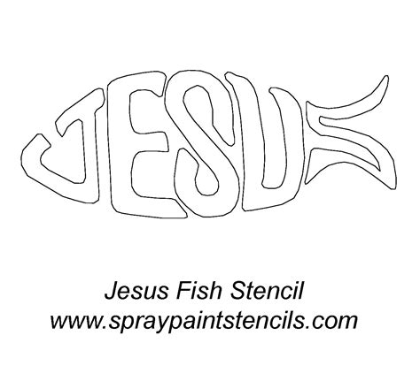 christian fish template stencil requests for august 2007