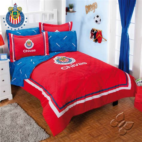 club chivas futbol soccer comforter and sheet set boy s