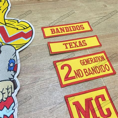 Set Mc 10pcs set bandidos mc patch embroidered iron on back
