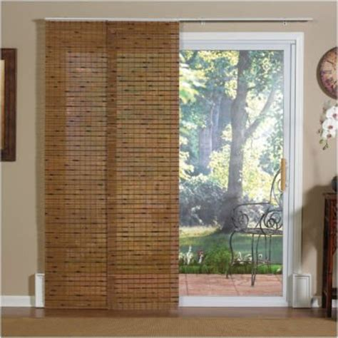 Bamboo Panels For Sliding Glass Doors Window Treatments Panel Track Bamboo Blind In Jakarta Pecan