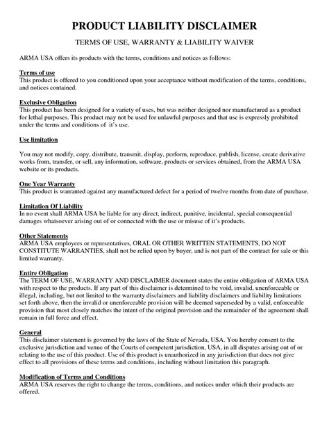 disclaimer templates disclaimer statement for mri volunteer exams