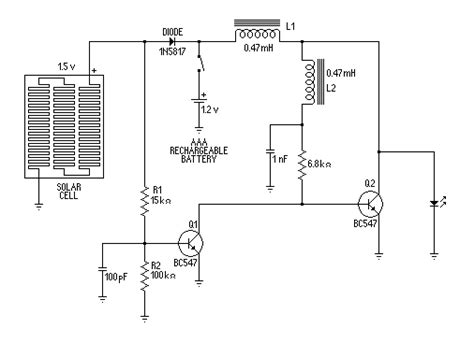 Solar Light Schematic Solar Light Circuit Diagram Intergeorgia Info