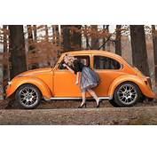 Wallpaper Autumn Girl Pose Beetle Blonde Car