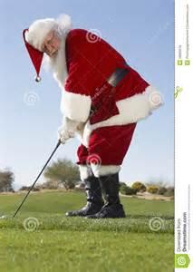 santa claus playing golf royalty free stock images image
