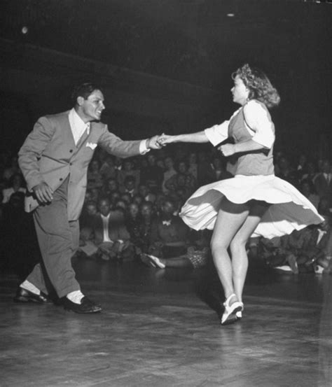 couple swing dancing couple dancing in a jitterbug contest location ca us