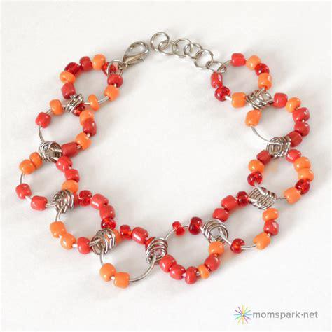 beaded chain bracelet beaded jumbo jump chain bracelet tutorial spark