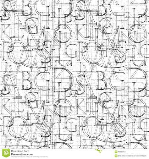 Black Letter Methodology wallpaper seamless pattern with modern classic
