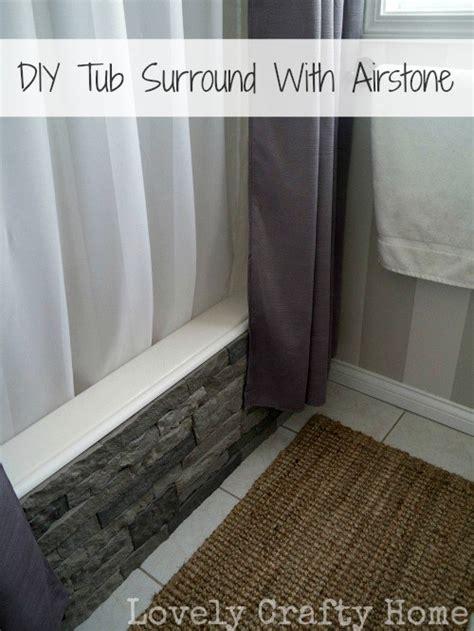 diy bathtub surround 187 update your boring builder bathtub with airstone