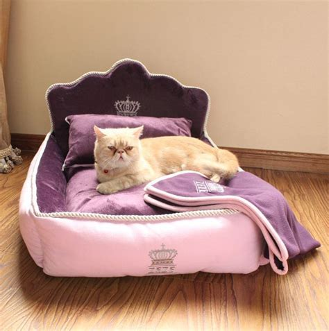 Cat Sofa Bed Princess Luxurious Pet Cat Sofa Bed House Puppy Kennel Pillow Blanket Ebay