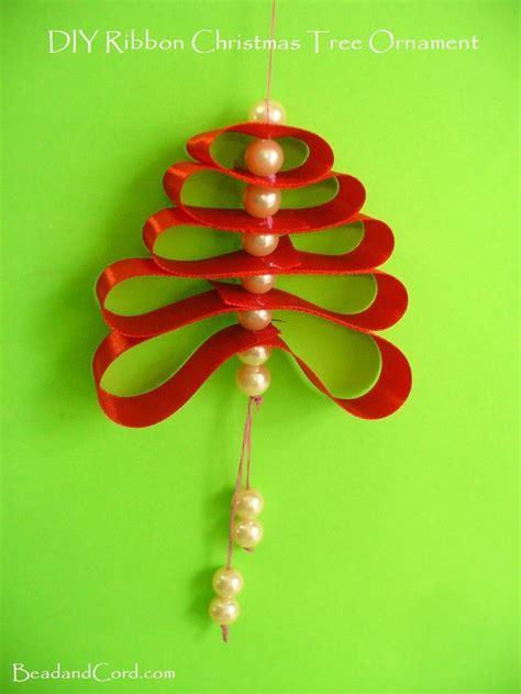 diy ornaments ribbon diy ornament ribbon loop tree