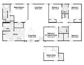 5 bedroom manufactured home floor plans double wide floor plans 5 bedroom 5 bedroom manufactured